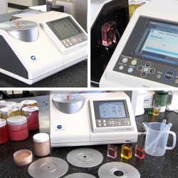 Cosmetics - Makeup Pigment dyes Reflectance and Transmittance and Trans-reflectance Color Measurement